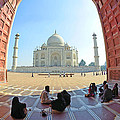 Taj Mahal In Fisheye by Bhaswaran Bhattacharya