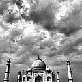 Taj Mahal India In Black And White by Amanda Stadther