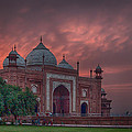 Taj Mahal Mosque At Sunset by Martin Belan