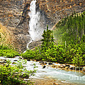 Takakkaw Falls Waterfall In Yoho National Park Canada by Elena Elisseeva