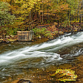 Take Me To The Other Side Beaver's Bend Broken Bow Lake Flowing River Fall Foliage by Silvio Ligutti