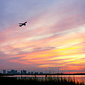 Take Off At Sunset In 1984 by Michelle Wiarda-Constantine
