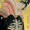 Takigawa From The Tea House Ogi by Kitagawa Otamaro