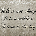 Talk Is Not Cheap It Is Worthless - Action Is Key - Poem - Emotion by Andee Design