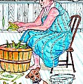 Talking To The Dog - Sitting On The Front Porch by Philip Bracco