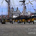Tall Ship At Albert Dock 2 by Joan-Violet Stretch