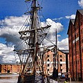 Tall Ship In Gloucester Docks by Ron Harpham