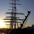 Tall Ship In Ibiza Town by Steve Kearns