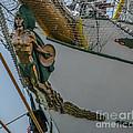 Tall Ship Masthead - Cisne Branco - Brazilian Tall Ship by Dale Powell