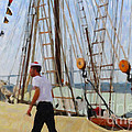 Tall Ship Sailor Duty by Dale Powell