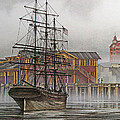 Tall Ship Waterfront by James Williamson