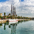 Tall Ships And Palm Trees - Impressions Of Barcelona by Georgia Mizuleva