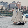 Tall Ships In The Harbor by Rob Hans