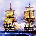 Tall Ships Uss Essex Captures Hms Alert  by Bob and Nadine Johnston