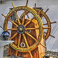 Tall Ships Wheel by Dale Powell
