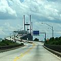 Talmadge Memorial Bridge In Savannah Georgia  by Kim Pate