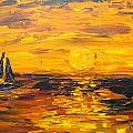 Tamarindo Sailboat Sunset by Kim Hamrock