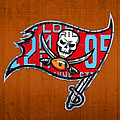 Tampa Bay Buccaneers Football Team Retro Logo Florida License Plate Art by Design Turnpike