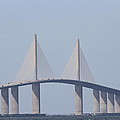 Tampa Sky Way Bridge by Christiane Schulze Art And Photography