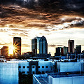 Tampa Skyline At Sunset Hdr 1 by Michael White