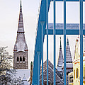 Tampere Cathedral Behind The Bridge by Ari Salmela