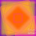 Tangerine And Orange Squares by Geraldine Cote