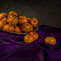 Tangerines In A Shell Platter by Leah McDaniel