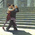 Tango On The Square by David Riley