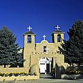 Taos Adobe Church by Sally Weigand