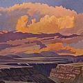 Taos Gorge - Pastel Sky by Art James West