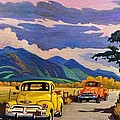 Taos Joy Ride With Yellow And Orange Trucks by Art West