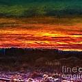 Taos Sunset Lx - Homage Turner by Charles Muhle