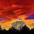 Taos Sunset Lx - Okeeffe by Charles Muhle