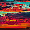 Taos Sunset Xix by Charles Muhle