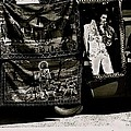 Tapestries Of  Elvis Presley  Hawai Concert Jesus Christ Sheep Horses Flags Armory Park Tucson Az by David Lee Guss
