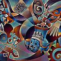 Tapestry Of Gods - Tlaloc by Ricardo Chavez-Mendez