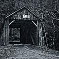 Tappan Covered Bridge Bw by Joan Carroll