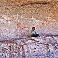 Tarahumara Boy In Painted Cave Near Chihuahua-mexico by Ruth Hager