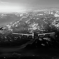 Target Tirpitz In Sight Black And White Version by Gary Eason