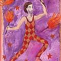 Tarot 1 The Juggler by Sushila Burgess