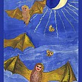 Tarot 18 The Moon by Sushila Burgess