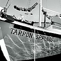 Tarpon Springs Spongeboat Black And White by Benjamin Yeager