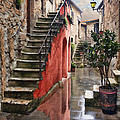 Tarquinian Red Stairs by Sharon Foster