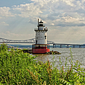 Tarrytown Lighthouse And The Tappan Zee Bridge by Marianne Campolongo