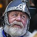 Tartan Day Parade Nyc 2013 Shetland Isle Celtic Warrior Armor by Robert Ullmann