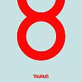 Taurus Zodiac Sign Red by Naxart Studio