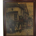 Tavern Outdoor Scene by Tina M Wenger