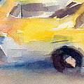 Taxi Cabs Nyc Watercolor Painting by Beverly Brown