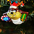 Taz On Christmas Tree by Mike Martin