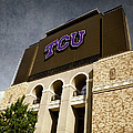 Tcu Stadium Entrance by Joan Carroll